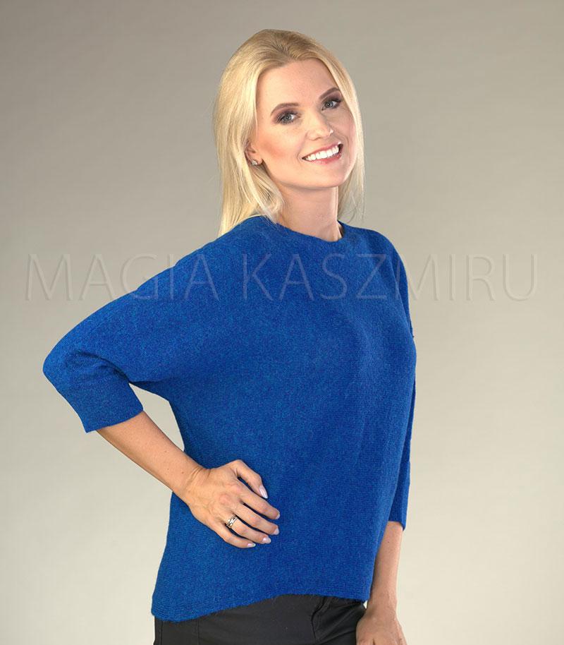 sweter damski welniany w kolorze niebieskim