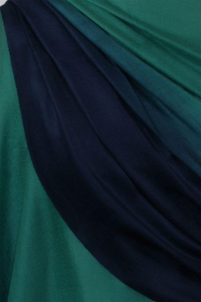 Szal kaszmirowy damski zielony