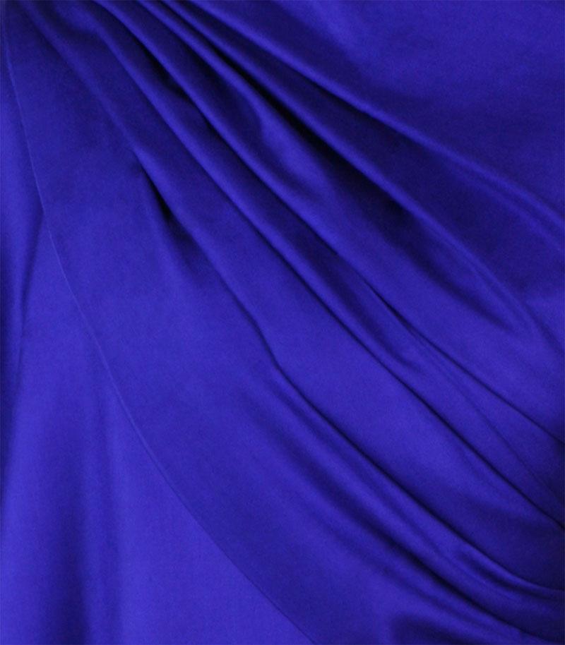 szal jedwabny gladki w kolorze fioletowym