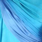 szal jedwabny cieniowany turkusowy