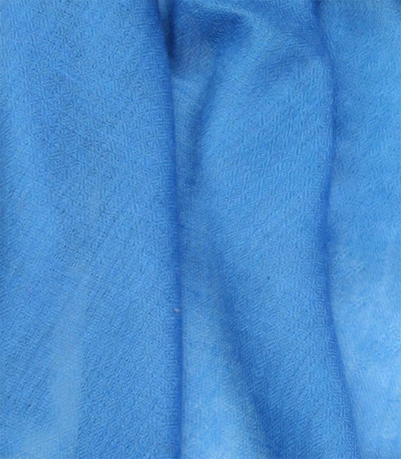 szal kaszmirowy w kolorze niebieskim