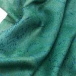 szal kaszmirowy zielony