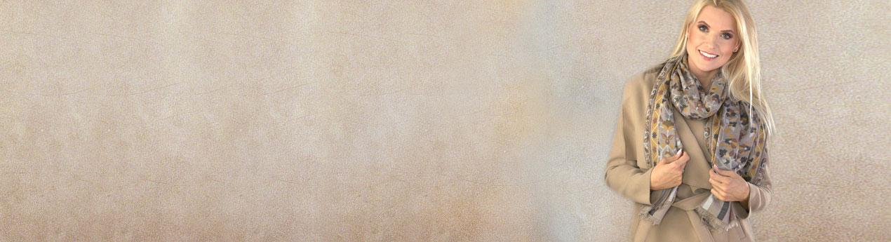szal welniany merino bezowy