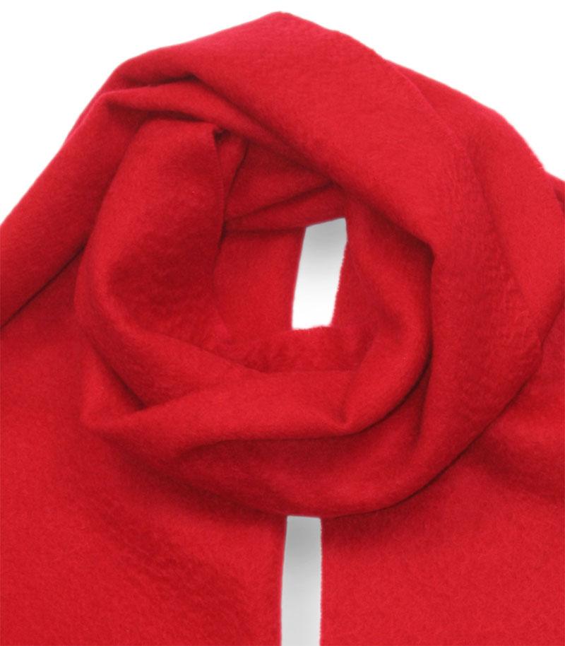 szalik kaszmirowy meski w kolorze czerwony