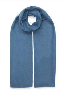 szalik kaszmirowy meski w kolorze niebieskim