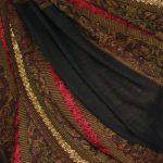 szal welniany w kolorze bordowym z welny merino