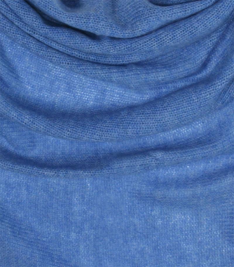 chusta kaszmirowa w kolorze niebieska