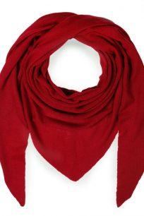 chusta welniana w kolorze czerwonym