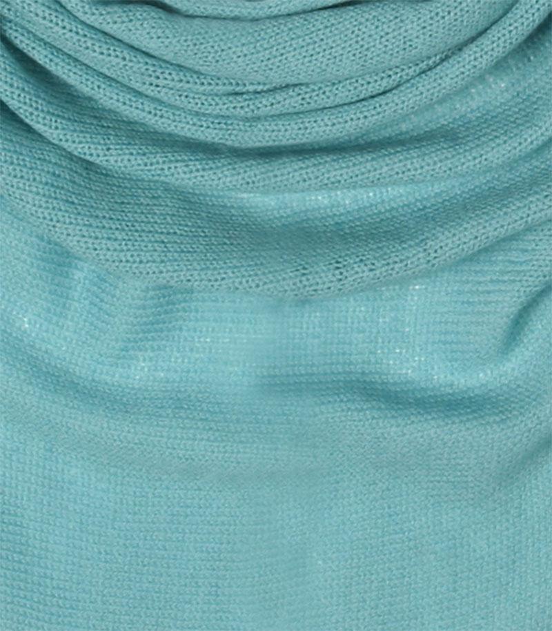chusta welniana w kolorze zielonym