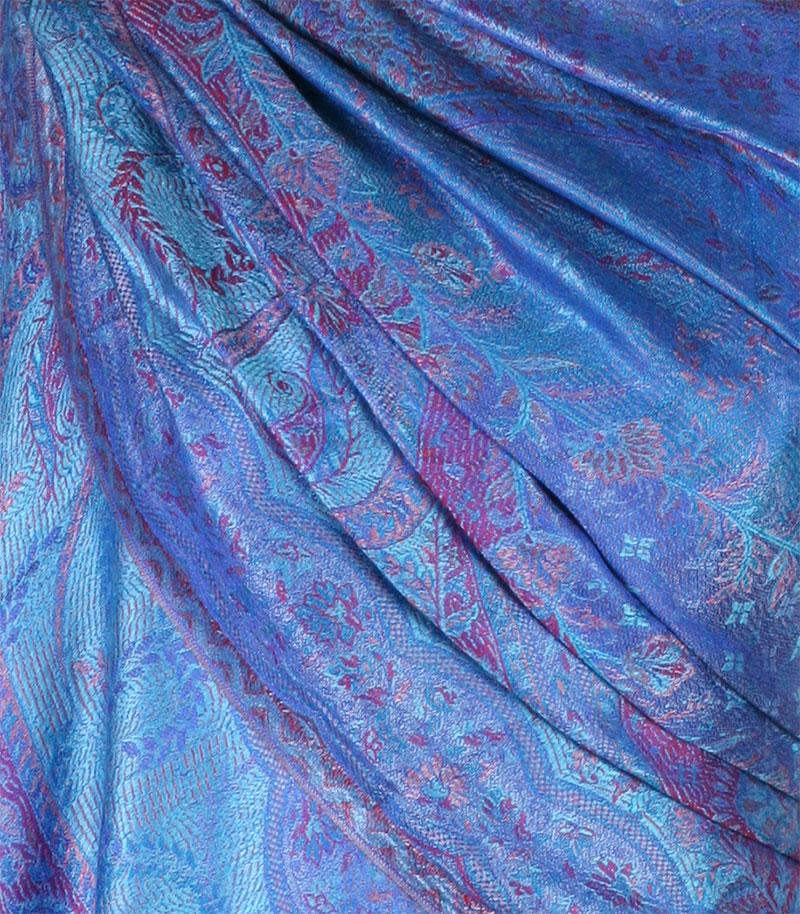 szal-damski-niebieski-wzor-jamawar