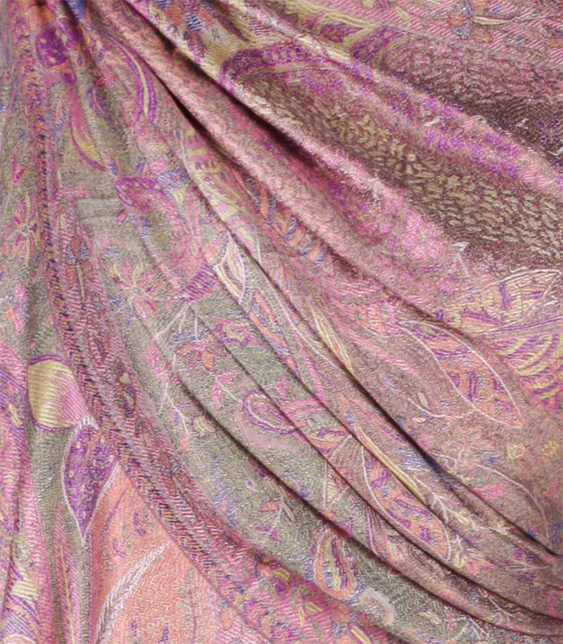 szal-damski-rozowy-wzor-jamawar